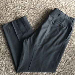 Polo Ralph Lauren Gray Pleated Cuffed Pants 38x31